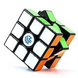 Cubelelo Gans 356 Air Master Edition 3x3 Black Base Flagship Speedcube 3x3x3 Premium Magic Cube (with New Blue Core) (Color: Black)
