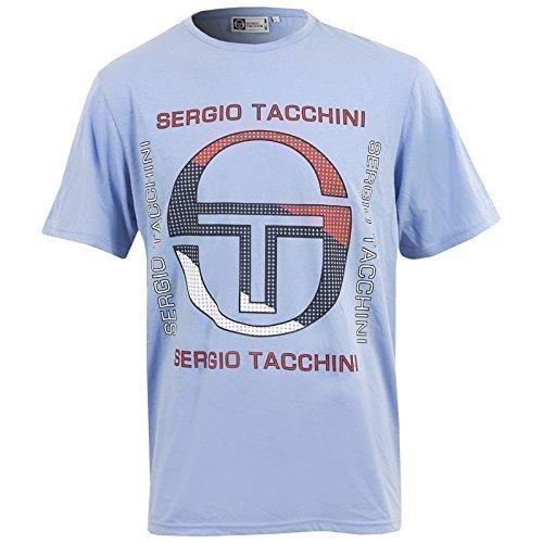 Nuovo Da Uomo Sergio Tacchini Tarka T-Shirt Maniche Corte Top Taglia S M L XL XXL - cotone, Blu, 40% di sconto 100% cotone, Uomo, L