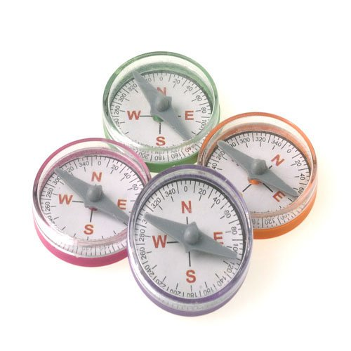Mini Pastel Compasses Party Supply Pack of 36