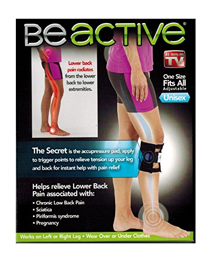 Nature's Pillows As Seen On TV Be Active Acupressure Sciatic Nerve Leg Brace