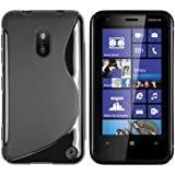 mumbi TPU Skin Case Nokia Lumia 620 Silikon Tasche H�lle - Silicon Protector Schutzh�lle schwarz