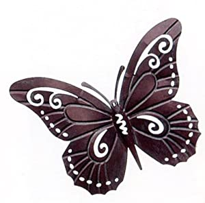 Vintage butterfly hanging metalwork garden wall art by Gardman