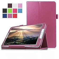 FanTEK Samsung Galaxy Tab E 8.0 SM-T377 (Sprint / US Cellular / Verizon ) 4G LTE 8-Inch Tablet Case - PU Leather Multi-Angle Stand Auto Sleep Wake Magnetic Smart Cover (Purple)
