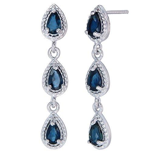 Sterling-Silver-Blue-Sapphire-Dangle-Earrings-085-CT