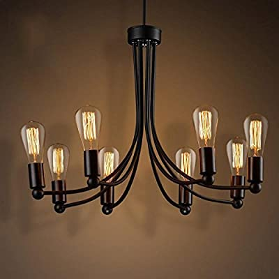 CHX New retro industrial lighting ideas modern minimalist restaurant long wrought-iron chandelier lamp Cafe clothing store 730600mm