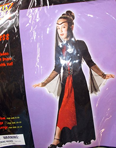 Gothic Sorceress Black Costume Child M 8-10 NWT