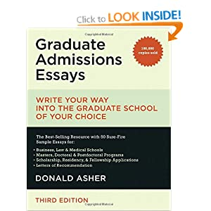 Best grad school admission essays writing