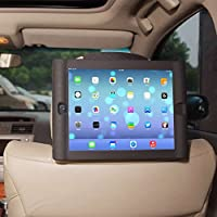 TFY Kids Car Headrest Mount Holder for Tablet PC - Detachable Lightweight Shockproof Anti-slip Soft Silicone Handle Case by TFY