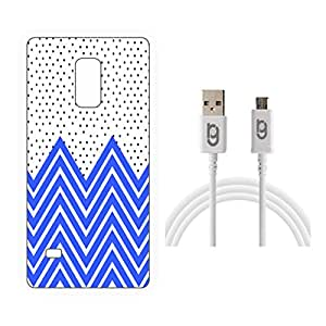 Designer Hard Back Case for Samsung Galaxy Note Edge with 1.5m Micro USB Cable