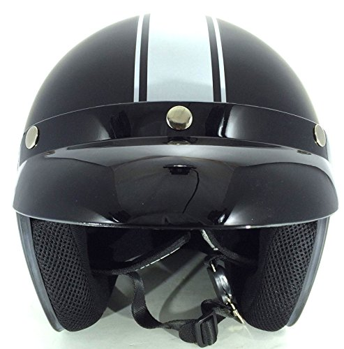 Viper RS-04 Cruise Matt Black Motorbike Open Face Helmet M (57-58 Cm)