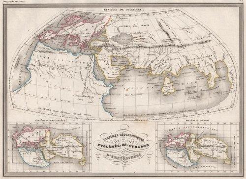 Ptolemy Ancient World: Systême Géographiques De Ptolémée. Malte-Brun;C1846 Map