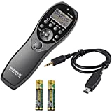 Neewer® LCD Display Shutter Release Wired Timer Remote Control YP-880/DC2 for Nikon D7100 D7000 D5300 D5100 D5000 D3300 D3200 D3100 D610 D600 D90 DF DSLR Cameras