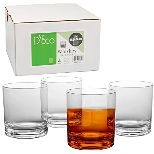 Unbreakable-Whiskey-Glasses-Set-of-4-Premium-Whisky-Scotch-Glasses-100-Tritan-Shatterproof-Reusable-Dishwasher-Safe-by-DEco
