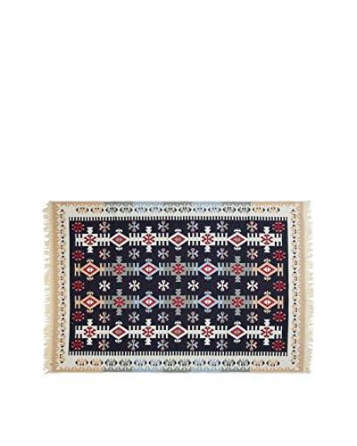 Tapis a Porter Alfombra Doubleface Mehmet Rojo/Marfil/Multicolor 80 x 200 cm