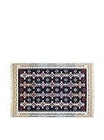 Tapis a Porter Alfombra Doubleface Mehmet Rojo/Marfil/Multicolor 100 x 200 cm