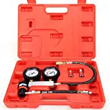 Heavy Tu-21 Cylinder Leakage Leak Detector Engine Compression Tester Kit Automotive Tool Gauge, US STOCK