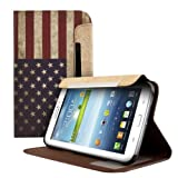 Kwmobile Chic leather for the Samsung Galaxy Tab 3 7.0 P3200 / P3210 with convenient stand function and Flag design (USA)