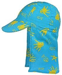 Back Flap Hat Turquoise Sea Xlarge