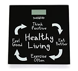 Healthgenie Digital Weighing Scale HD-221 Healthy Living, Black