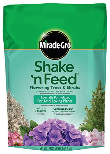 Miracle-Gro Shake 'n Feed Continuous Release Plant Food for Flowering Trees and Shrubs, 8-Pound (Slow Release Plant Fertilizer) (Fertilizer Slow Release compare prices)