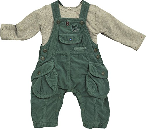 Berlingot Baby - Jungen, Unterwäsche-Set, ENS SALOPETTE T SHIRT, GR. 80 (Herstellergröße: 12 mois), Grün (kaki)