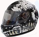 Motorradhelm Motorrad Helm Carbon Kevlar matt weiß Gr.L