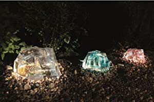 Gardman Set of Three Solar Colour Changing Iceberg LED Lights