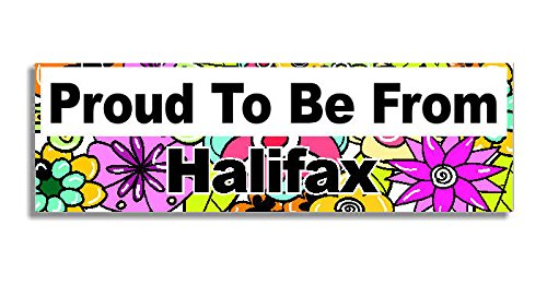 proud-to-be-from-halifax-car-sticker-sign-coche-pegatina-decal-bumper-sign-5-colours-flowers