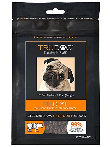 Real Meat Organic Dog Food - Feed Me: Freeze Dried Raw Superfood for Optimal Canine Health and Natural Longevity - All Natural - Balanced Nutrition - No Filters, No Grain - Just Add Water (Beef, 14oz) (Instinct Dehydrated Dog Food compare prices)