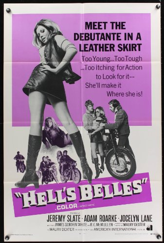 HELL'S BELLES int'l one-sheet movie poster '69