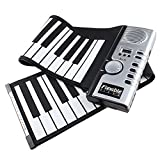 [Regalo para Niño] AGPtek Teclado Piano Infantil para Niños con 61 Teclas Flexible Plegable Suave Portátil Eléctrico Digital Puede Rollar Piano Enrollado