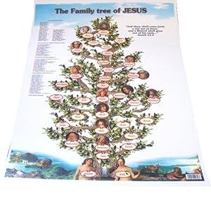 Jesus family tree - laminated ( 50x 30 cm )