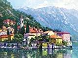 Reflections of Lake Como by Behrens, Howard - Fine Art Print on CANVAS : 27 x 20.5 Inches