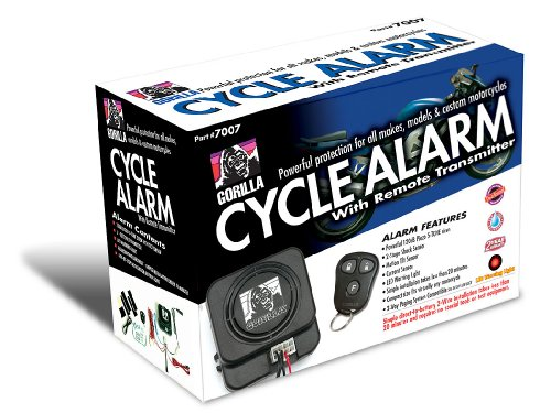 Gorilla Automotive 7007 Motorcycle Alarm with Remote Transmitter