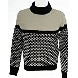 Knit Turtleneck Sweater mens GUESS a. M43R55Z0Y50 t. XS col.FA91 gunmetal