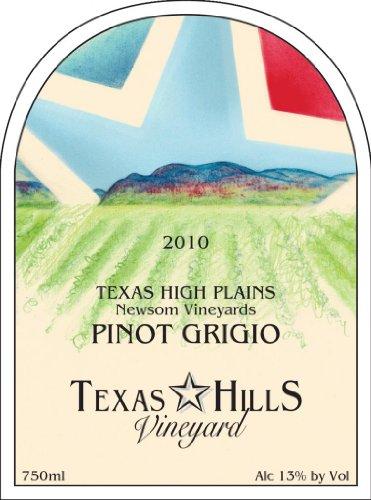 2010 Texas Hills Vineyard Pinot Grigio 750 Ml