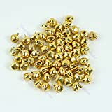 Generic Multi : Better 100pcs Small Bell Craft Jewelry Wedding Charms 6mm Bead Findings Gold Mixed Color