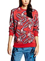 House Of Holland Jersey Paradise Flower Sweatshirt (Rojo / Multicolor)