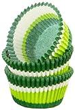 Regency Wraps Greaseproof Baking Cups, Green Swirl, 40-Count, Standard.