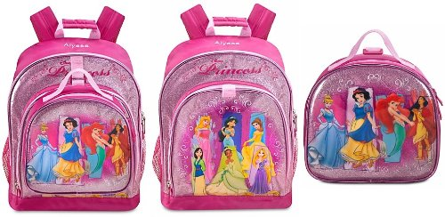 Disney Store Disney Princess Backpack and Lunchbox Tote Set Featuring  Rapunzel 87d14b50acffa