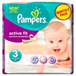 Pampers Active Fit Couches Pack Econo...