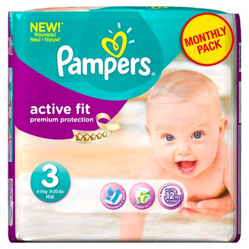 Pampers Active Fit Couches Pack Economique 1