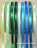 リボン シングルサテン 6mm 【Rブルー】 I-RI-26R-blue
