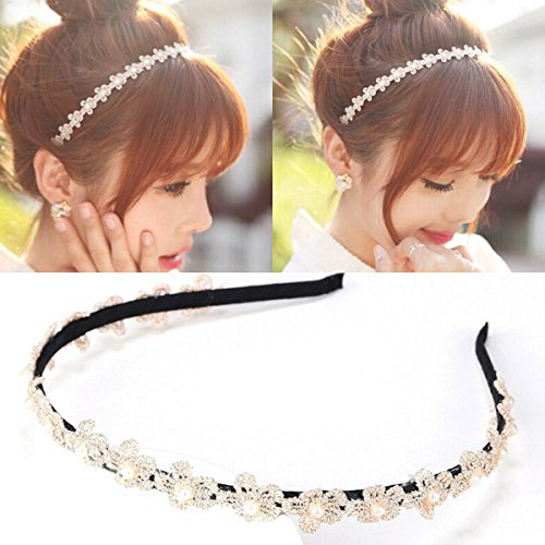 Women's Korean Pearls Clip Hairbands Wedding Fashion Headband Hair Accessories