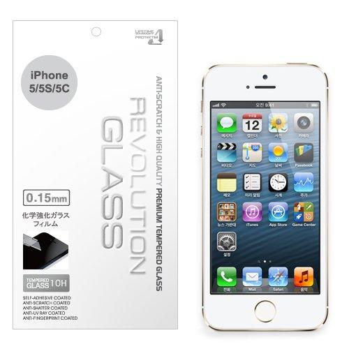 REVOLUTION 衝撃保護ガラスフィルム 0.15mm 表面硬度10H iPhone5/5S/5C対応 RG015