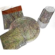 Camouflage Camo Party Supplies - Tablecover Plates Napkins & Cups