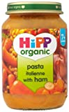 HiPP Organic Stage 2 From 7 Months Pasta Italienne with Ham 6 x 190 g (Pack of 2, Total 12 Pots)
