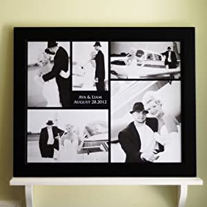 Personalized contemporary custom wedding for Modern collage frame