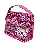 Barbie-Geschenk-Set-Make-Up-Set-auf-Wasserbasis-in-stylischer-Beauty-Pailletten-Tasche-mit-Glitzer-fr-Kinder