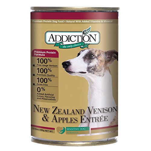 New Zealand Venison and Apples Entrée- Dog Food (12/13.8 Ounce Cans) (Addiction Canned Dog Food compare prices)